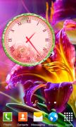Цветы виджет часов для Android
